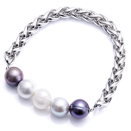 Honora 10 11mm Cultured Pearl Stretch Bracelet Stainless Steel Page 1 Qvc Uk