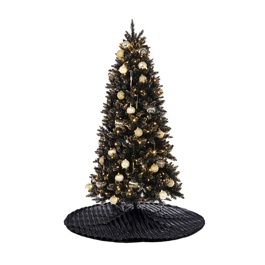 black gold christmas tree back to video