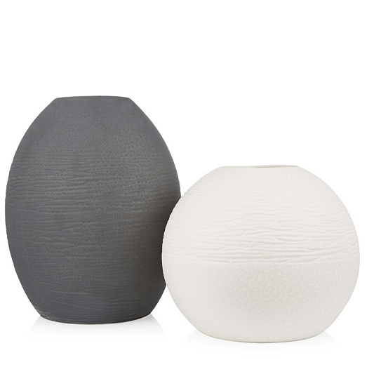 K By Kelly Hoppen Set Of 2 Natura Vases Qvc Uk