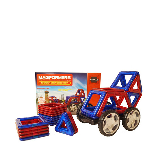 Magformers 31 Piece Vehicle Cruiser Set With Wheels Qvc Uk
