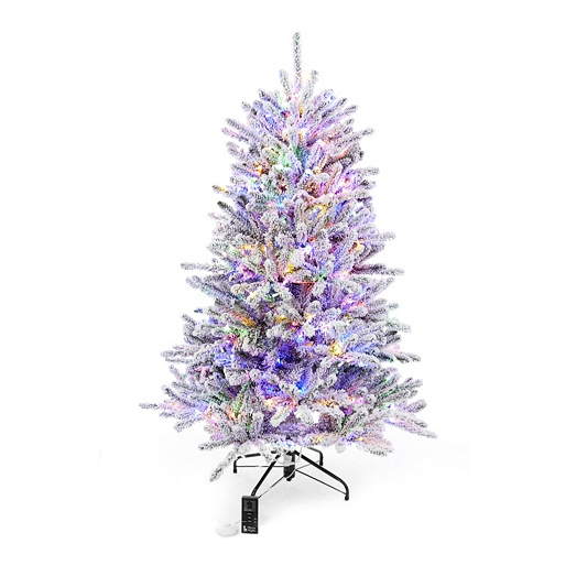 santas best pre lit cumberland spruce christmas tree with remote control back to video - Santas Best Christmas Trees