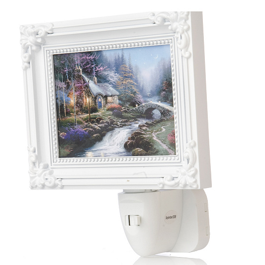 Thomas Kinkade Nightlight with Miniature Picture Frame - QVC UK