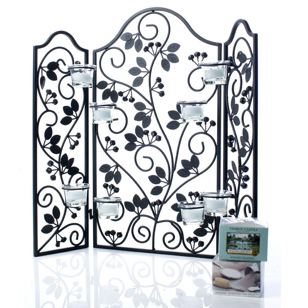 yankee candle decorative screen with 8 holders 24 fragranced tea rh qvcuk com Glass Tile Fireplace Surround Ideas Fireplace Ideas