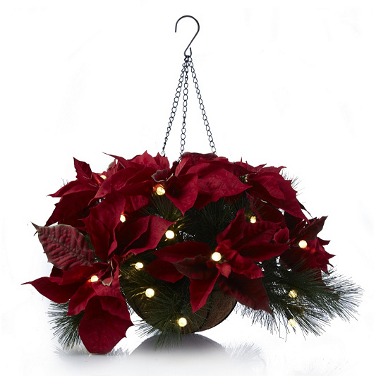 in stock - Christmas Hanging Baskets