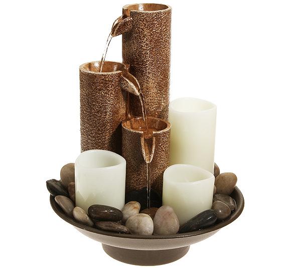 Elambia Flammenlose Kerzen Brunnen Beleuchtet 3