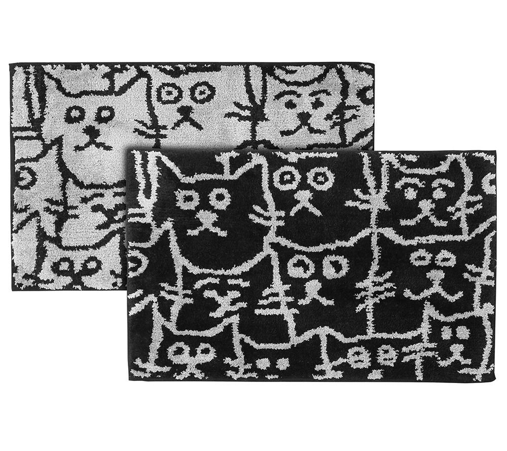Casa Fondo Mikrofaser 2 Fussmatten Katzen Grafisch Ca 50x80cm Page