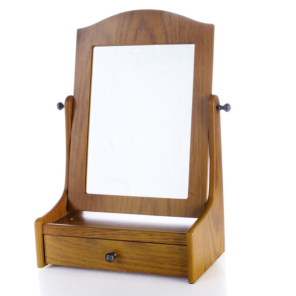 Delicieux Thomas Pacconi Table Top Cheval Mirror With Drawer