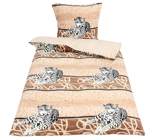 Mont Chalet Felloptik Wendebettwäsche Liegender Leopard