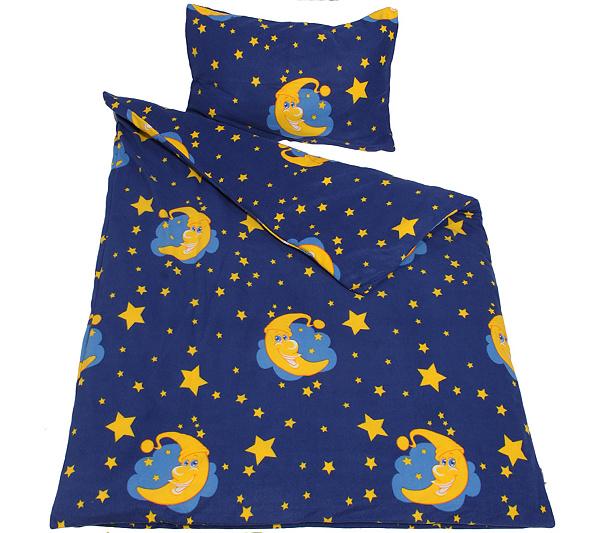 Winterengel Mf Edelflanell Kinderbettwasche Mond Sterne Einzelbett
