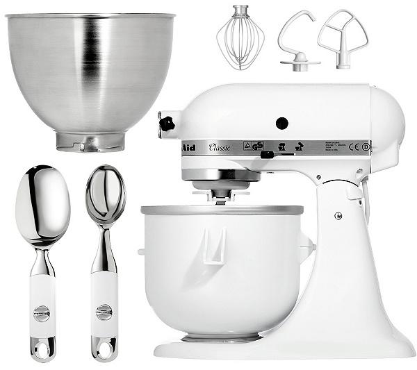 Kitchenaid Küchenmaschine Eismaschine Und Löffelset Inkl