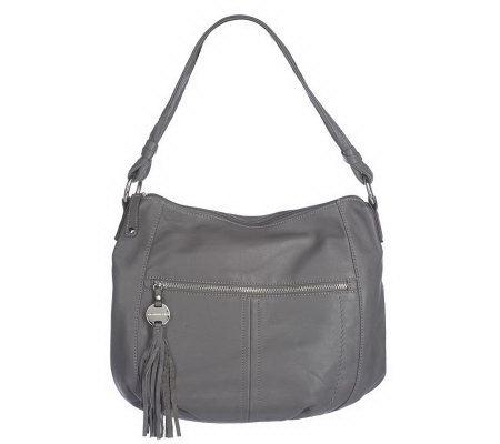 209529fd70 Tignanello Glove Leather Hobo Bag with Tassel - Page 1 — QVC.com
