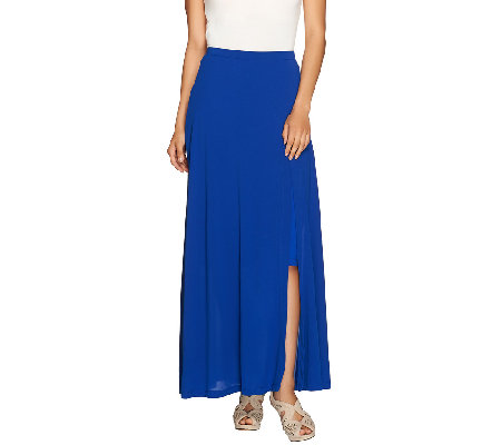 Lisa Rinna Collection Pull-On Knit Maxi Skirt with Side Slit