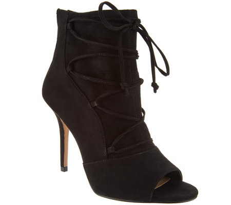G.I.L.I. Peep Toe Ankle Booties - Shawn