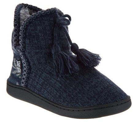 MUK LUKS Amira Slipper Boots with Furpa Lining
