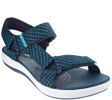 """As Is"" CLOUDSTEPPERS by Clarks Adj. Sport Sandals - Brizo Cady"