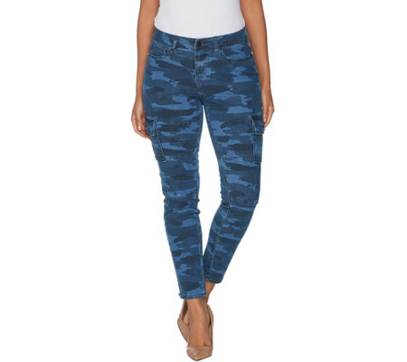 G.I.L.I. Regular Indigo Denim Cargo Jegging