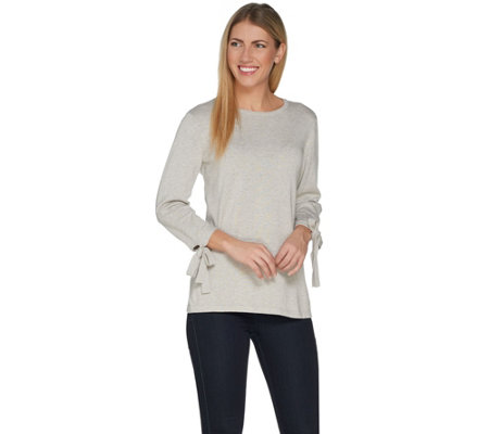 Joan Rivers 3/4 Sleeve Sweater with Side Bows