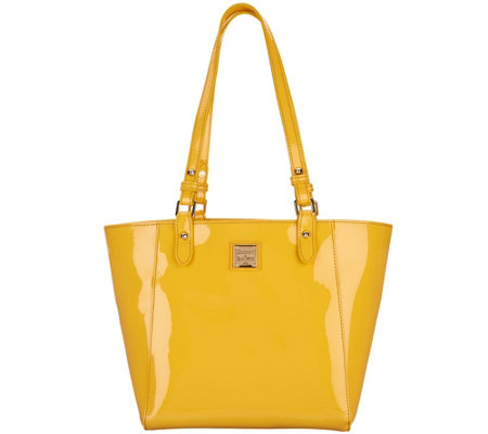 Dooney & Bourke Patent Leather Tote Handbag- Janie