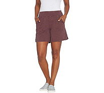 LOGO by Lori Goldstein Washed Jersey Shorts with Pockets - A305500