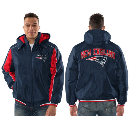 NFL Men's Polyfill Jacket with Detachable Hood
