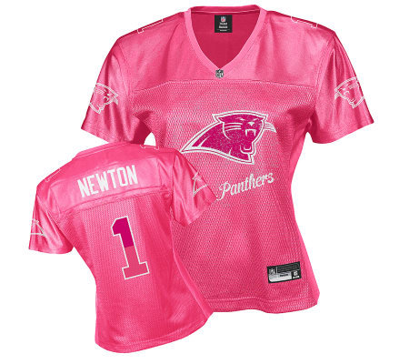 NFL Carolina Panthers Cam Newton Women s Pink Fan Jersey — QVC.com fc1487a407