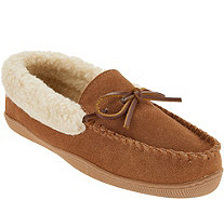 Clarks Suede Women's Slipper with Faux Shearling - A345000