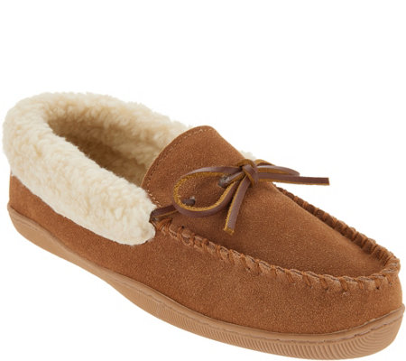 Clarks Suede Women's Slipper with Faux Shearling