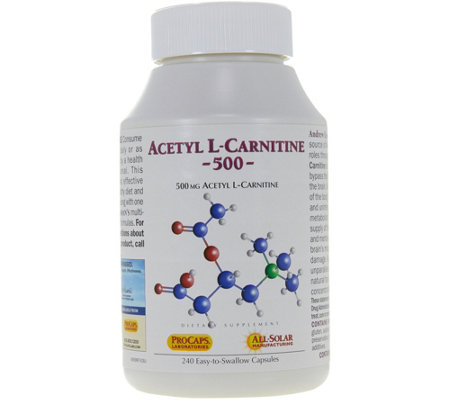 Andrew Lessman Acetyl L Carnitine 500 Mg 240 Capsules