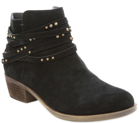 Kensie Suede Leather Ankle Booties - Gilberto