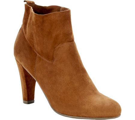 Sole Society Unlined Suede Ankle Booties - Laurel