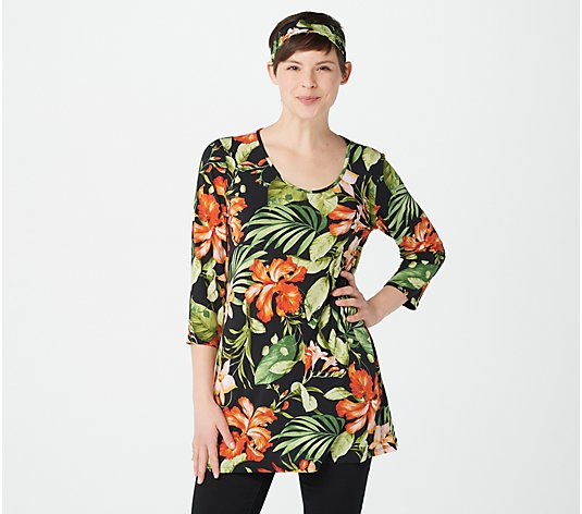 Attitudes by Renee Como Jersey Tunic with Headband