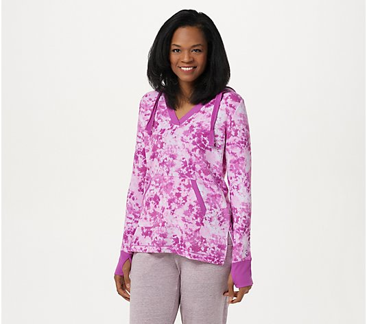 Cuddl Duds Lightweight Comfort Hoodie with Rib Trim Detail