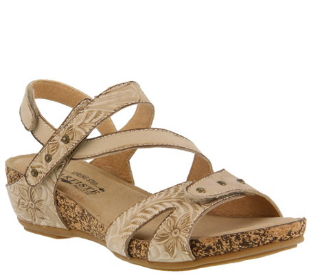 L'Artiste by Spring Step Leather Sandals -Quilana