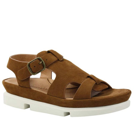 L Amour Des Pieds Leather Buckle Sandals Villefranche