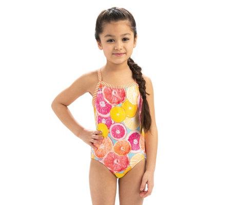 5ff568097b Dolfin Uglies Girls Sweetie Print 1-Piece Swimsuit — QVC.com