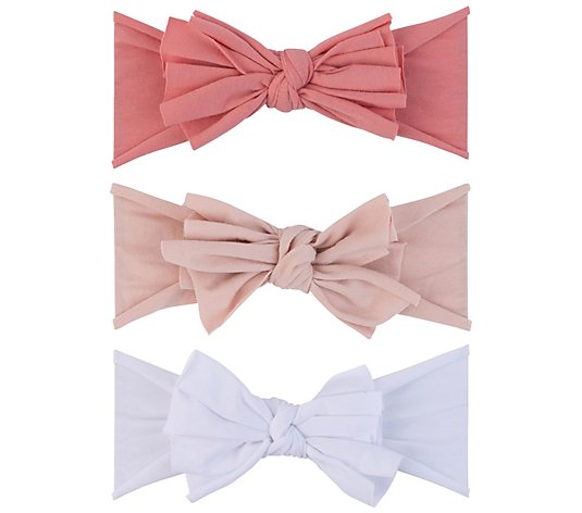 Ely's & Co. Set of 3 Jersey Cotton Bow Headbands