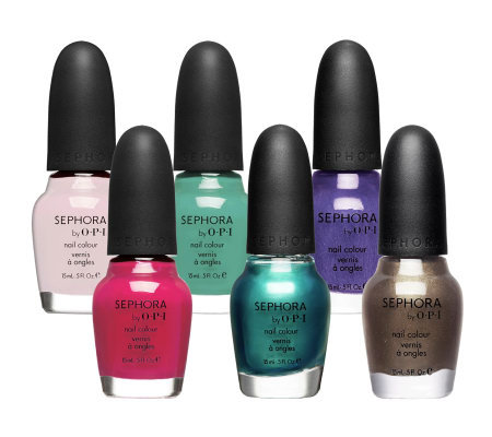 Sephora By Opi Set Of 6 Must Haves Nail Colour Collection