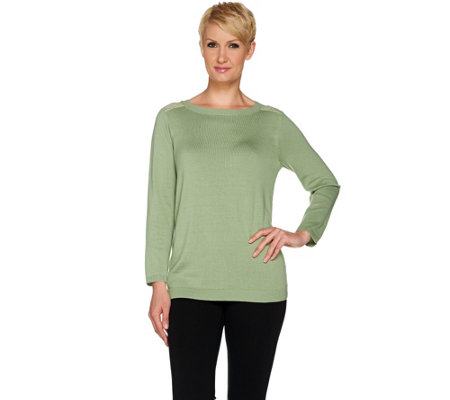 Linea by Louis Dell'Olio Sweater with Lace Back
