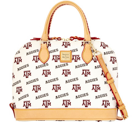 Dooney & Bourke NCAA Texas A&M University Zip Zip Satchel