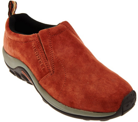 Merrell Suede Slip-on Shoes - Jungle Moc