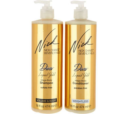 Nick Chavez Diva Liquid Gold 16 oz. Shampoo & Conditioner