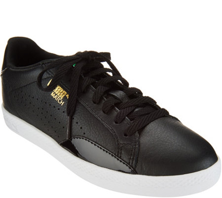 29463db8f7f6 PUMA Leather   Suede Lace-up Sneakers - Match - Page 1 — QVC.com