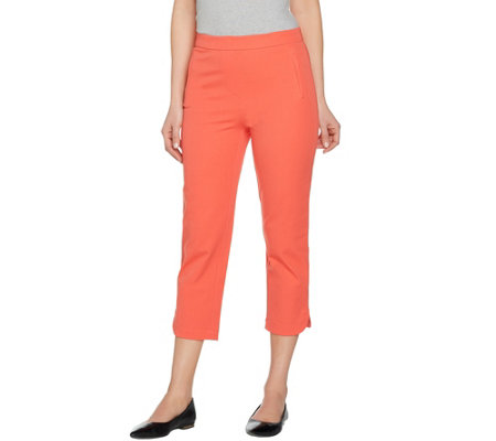 """As Is"" Isaac Mizrahi Live! Regular 24/7 Stretch Pull-On Crop Pants"