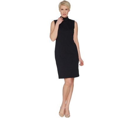 "Joan Rivers Petite Length Mock Neck ""Little Black Dress"""