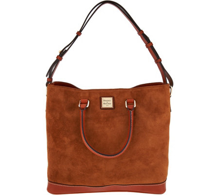 """As Is"" Dooney & Bourke Suede Chelsea Tote Handbag"