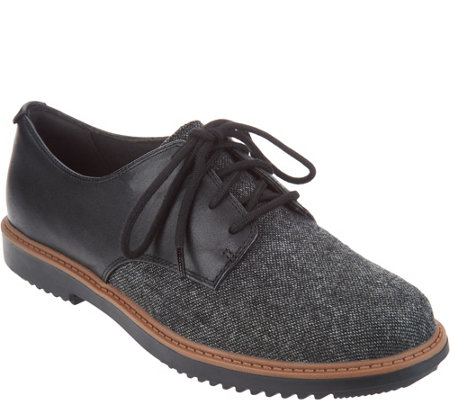 """As Is"" Clarks Leather Lace-up Shoes- Raisie Bloom"