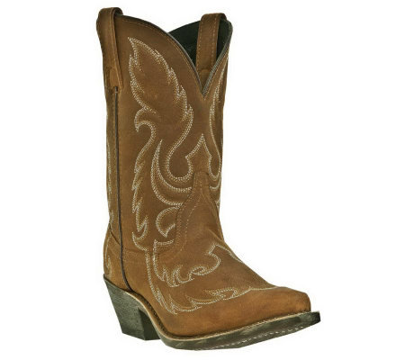 Laredo Leather Cowboy Boots - Saucy