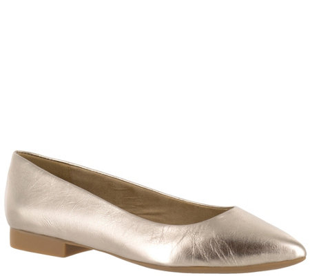 Bella Vita Leather or Suede Pointed Toe Flats -Vivien