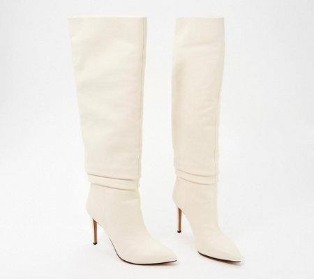 Vince Camuto Leather Tall Shaft Boots Kashiana