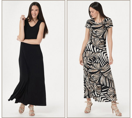 Attitudes By Renee Regular Como Jersey Set Of 2 Maxi Dresses
